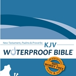 KJV Waterproof Bible New Test. Psalms & Prov. Blue Wave