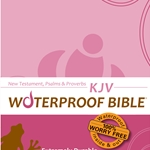 KJV Waterproof Bible New Test. Psalms & Prov. Pink Brown