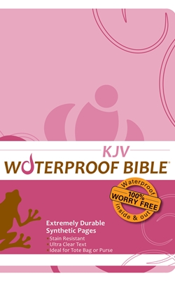 KJV Waterproof Bible Pink Brown