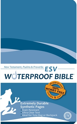 ESV Waterproof Bible New Test. Psalms & Prov. Blue Wave