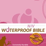 NIV Waterproof Bible Pink Brown