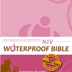 NIV Waterproof Bible New Test. Psalms & Prov. Pink Brown