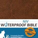 NIV Waterproof Bible Brown